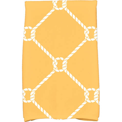 """Simply Daisy 16"""" x 25"""" Ahoy! Geometric Print Kitchen Towel by E By Design"""