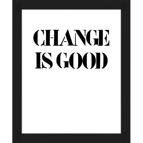 PTM Images 'Change Is Good' Framed Textual Art