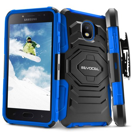 Kickstand Case - Galaxy J7 (2018) Case, Evocel [Belt Clip Holster] [Kickstand] [Dual Layer] New Generation Series Phone Case for Samsung Galaxy J7 (2018) / J7 V 2nd Gen / J7 Refine / J7 Crown / SM-J737P , Blue