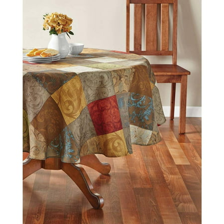 Mainstays Tuscany Fabric Tablecloth Available In Multiple