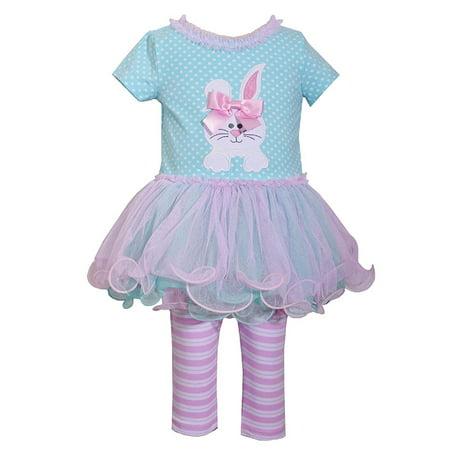 Bonnie Jean Easter Baby Girls' Appliqued Skirt Dress and Legging Set (4T, - Skirt And Legging