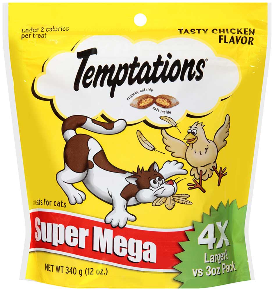 TEMPTATIONS Classic Treats for Cats Tasty Chicken Flavor 12 Ounces