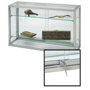 """Countertop Display Case - Upright Glass - 18""""H x 8""""D x 30""""L (Lock Included)"""
