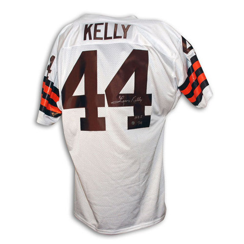 "NFL - Leroy Kelly Cleveland Browns Autographed White Throwback Jersey Inscribed ""HOF 94"""