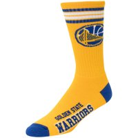 Golden State Warriors For Bare Feet Reverse 4 Stripe Deuce Crew Socks - L