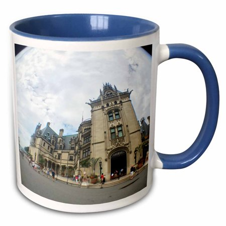 3dRose Fish Eye View of Biltmore Estate - Two Tone Blue Mug, 11-ounce ()