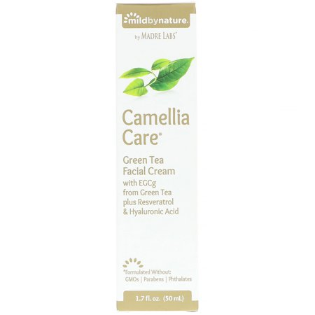 Mild By Nature  Camellia Care  EGCG Green Tea Skin Cream  1 7 fl oz  50 ml - Green Skin