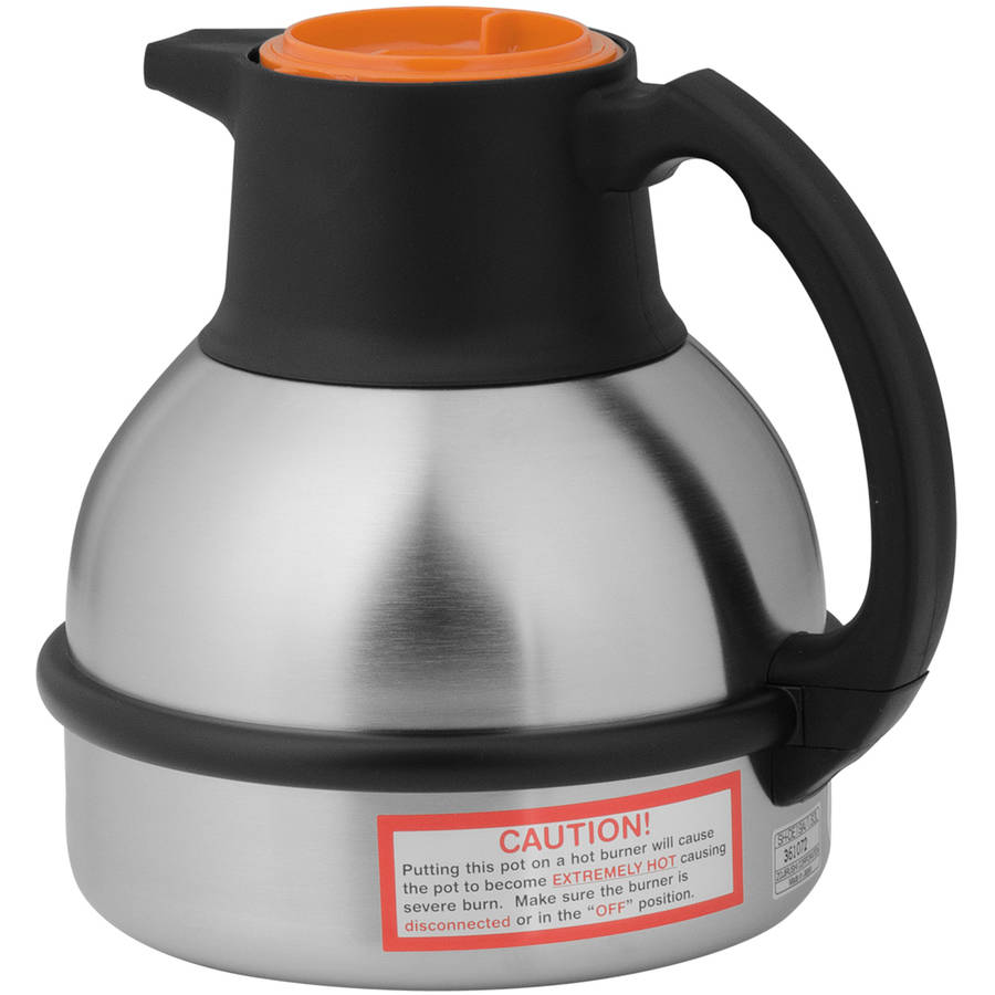 BUNN 1.9L (64 oz) Deluxe Thermal Carafe by Zojirushi, Decaf/Orange Handle