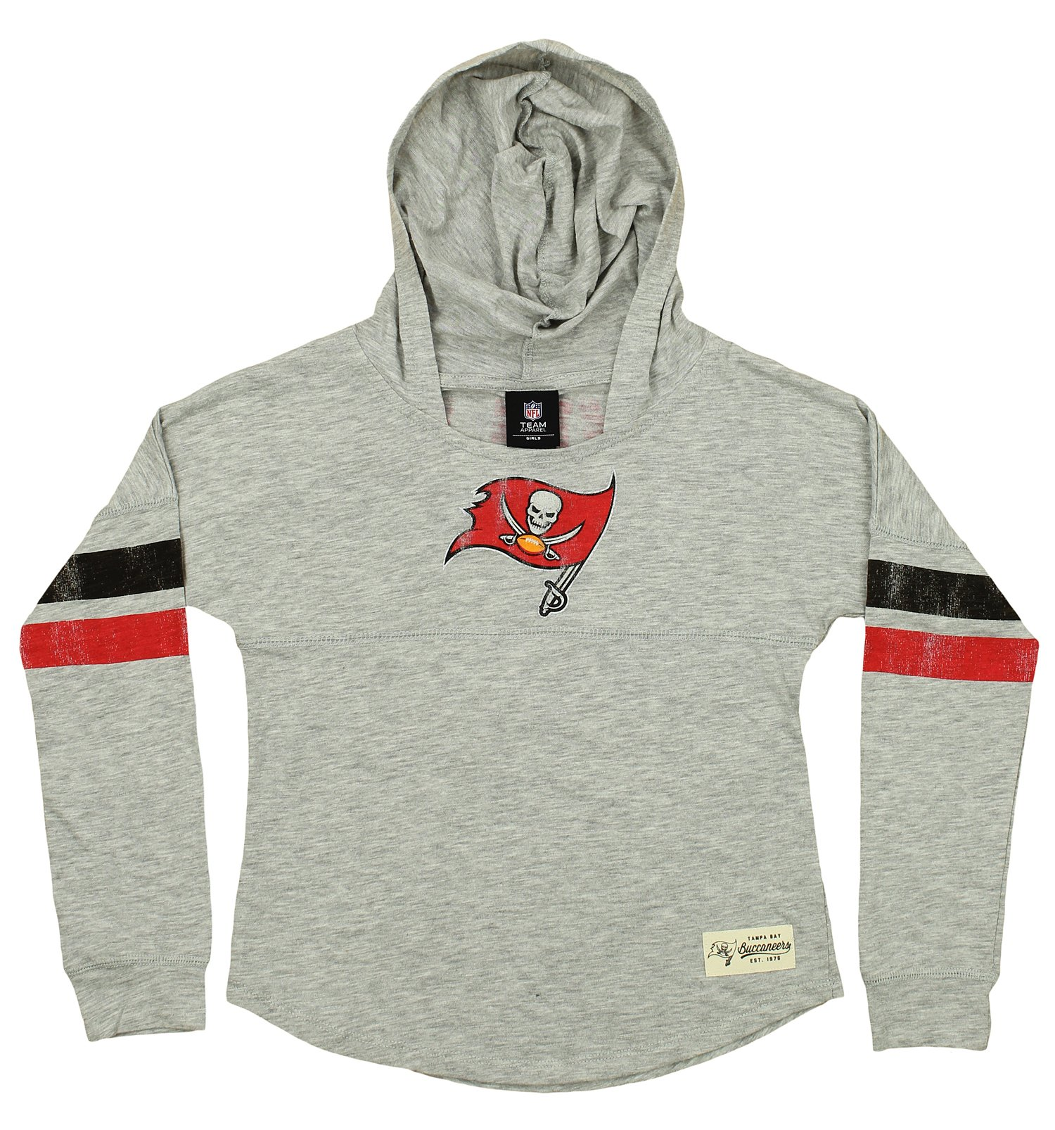 Outer Stuff NFL Youth Girls Tampa Bay Buccaneers Campus Slouch Hooded Shirt