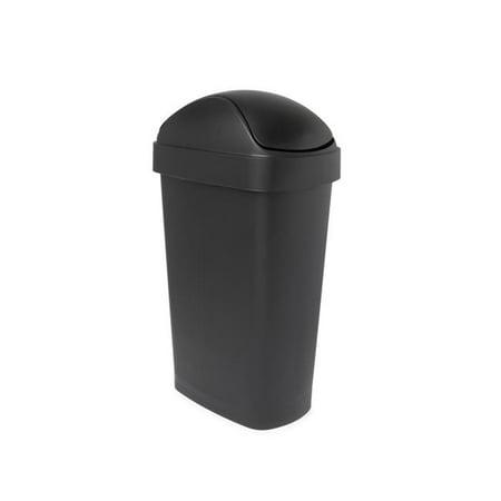 Umbra 086620-041 Flippa 8 gal Kitchen Trash Can - Metal Black