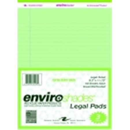 Roaring Spring Legal Pad - Green, Pack 3