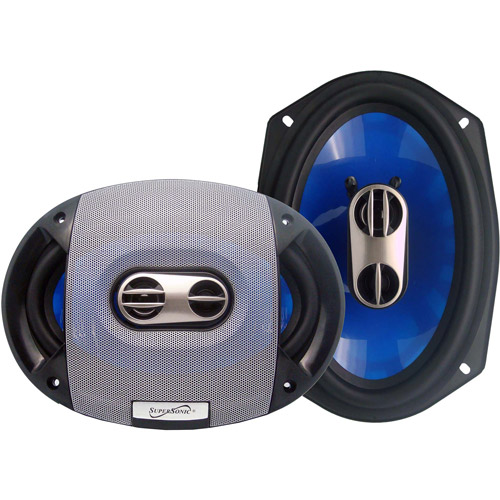 "SuperSonic 6"" x 9"" 3-Way Coaxial System (Pair of Speakers)"