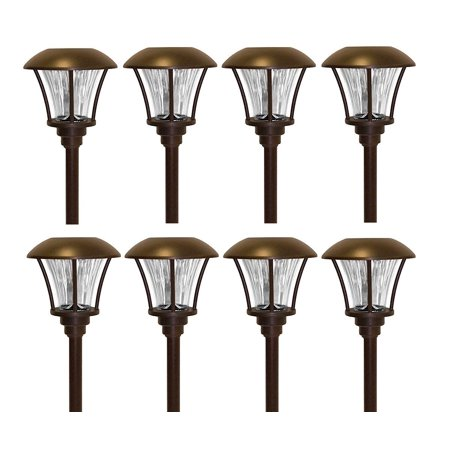 Smartyard Solar LED Large Pathway Lights - 8 Pack
