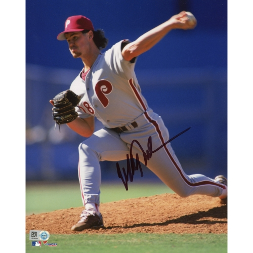 "Mitch Williams Philadelphia Phillies Fanatics Authentic Autographed 8"" x 10"" Pitching Photograph - No Size"