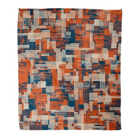ASHLEIGH Throw Blanket Warm Cozy Print Flannel Shapes Abstract Urban Geometric Noisy Fragments Camouflage Comfortable Soft for Bed Sofa and Couch 58x80 - Soda Camo