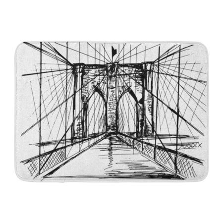 GODPOK Front Black Sketch Hand Drawn Brooklyn Bridge ...