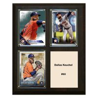 "C & I Collectables MLB 8"" x 10"" Dallas Keuchel Houston Astros 3-Card Plaque"
