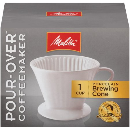 Melitta Porcelain Pour-Over Single Cup Serving Coffee Brewer