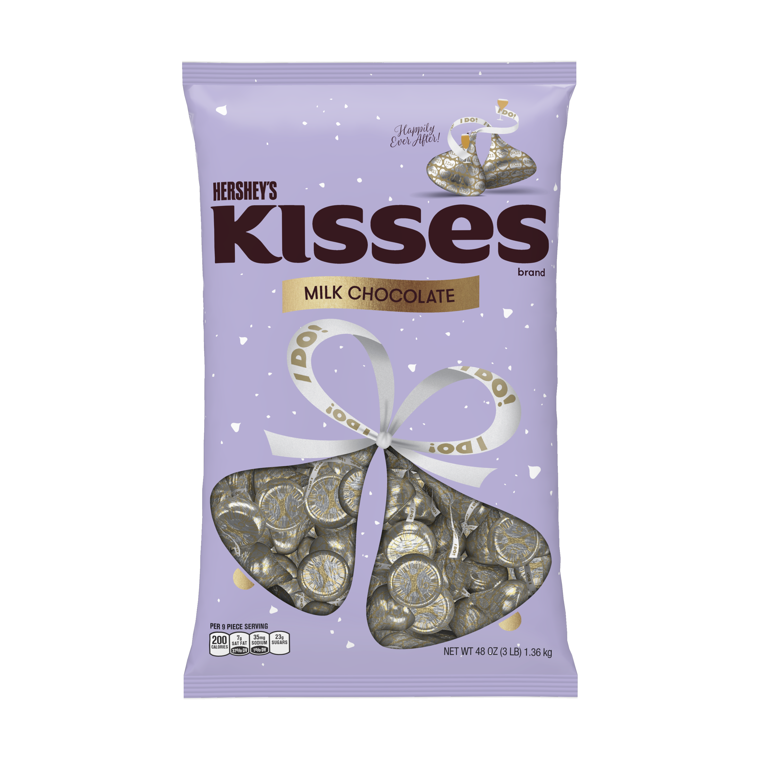 Kisses, Wedding  I Do!  Milk Chocolate Candy, 48 Oz - Online Only
