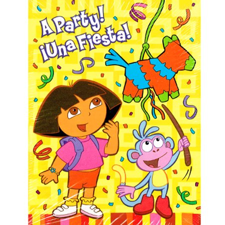 Dora the Explorer 'Fiesta' Invitations w/ Envelopes (8ct) - Invitaciones Para Fiestas De Halloween