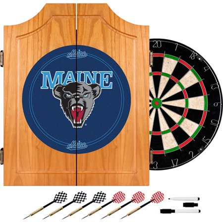 University of Maine Dart Cabinet with Darts and