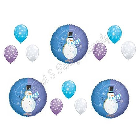 HAPPY SNOWMAN WINTER Wonderland ONE-DERLAND 1st Birthday party Balloons Decoration Supplies First - Winter Wonderland 1st Birthday Ideas