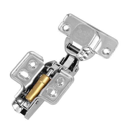304 en acier inoxydable Charnières encastrées pour portes d'armoire à fermeture automatique 6 Pcs - image 3 de 4