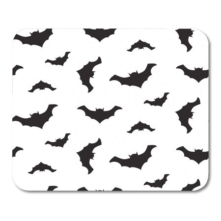 SIDONKU Cartoon Halloween Flying Black Bats Silhouettes and Celebration Dark Mousepad Mouse Pad Mouse Mat 9x10 inch - Halloween Bat Silhouette