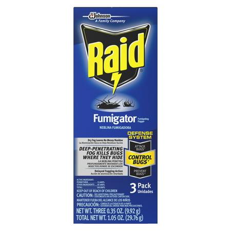 (Raid Fumigator Fumigating Fogger, 3 Pack)
