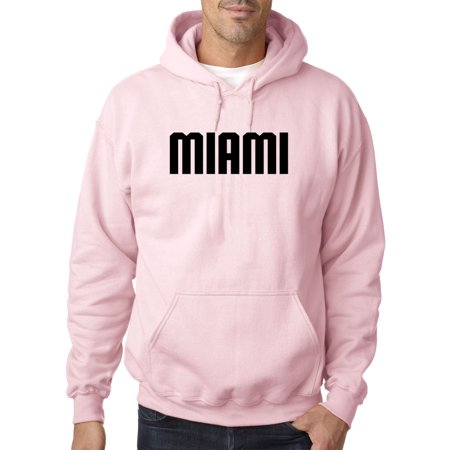 Trendy USA 1353 - Adult Hoodie Miami College Block Text Sweatshirt 4XL Light Pink