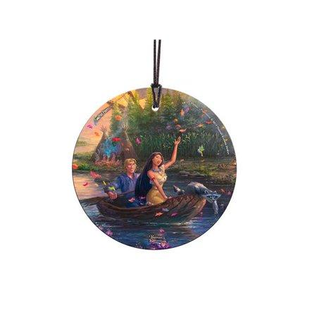 Trend Setters SPCIR864 Thomas Kinkade Pocahontas StarFire Prints Hanging Glass
