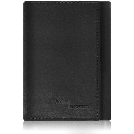 0122ef224943 Access Denied - Genuine Leather Trifold Wallets For Men - Mens Wallet With ID  Window RFID Blocking - Walmart.com
