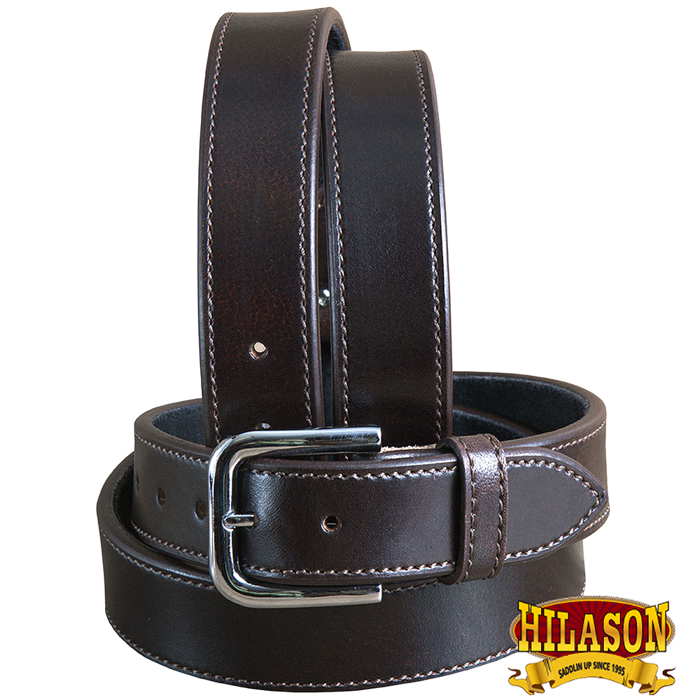 """34"""" HEAVY DUTY DOUBLE LAYER STITCHED LEATHER CONCEALED CARRY GUN HOLSTER BELT"""