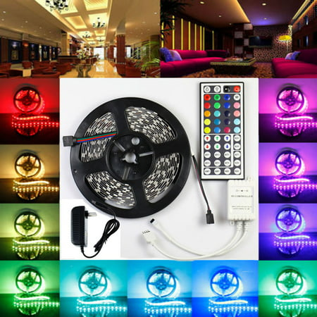 Lightahead® IP65 300 LED Water Resistant Flexible Strip Light - 16.4 feet (5 Meter) Color Changing RGB LED Strip Light Kit with Remote Control](Led Lights For Clothes)