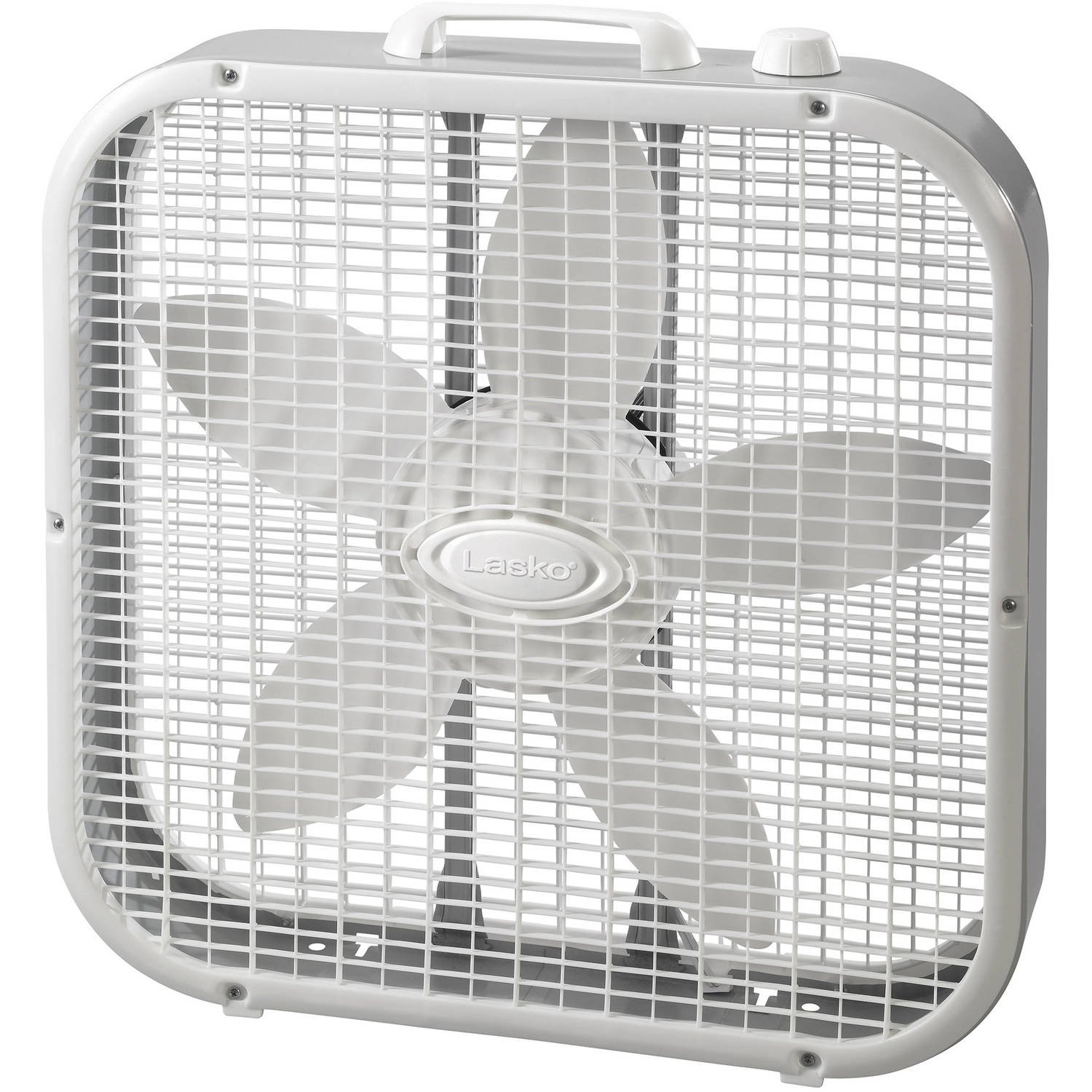"Lasko 20"" Box Fan, White"