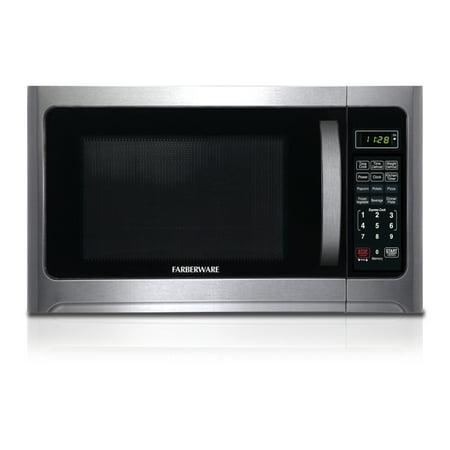 Farberware FMO12AHTBKC 1.2 cu. Ft. 1000-Watt Microwave Oven, Stainless/Black