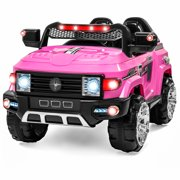 12v mp3 kids ride on truck car rc remote control led lights aux