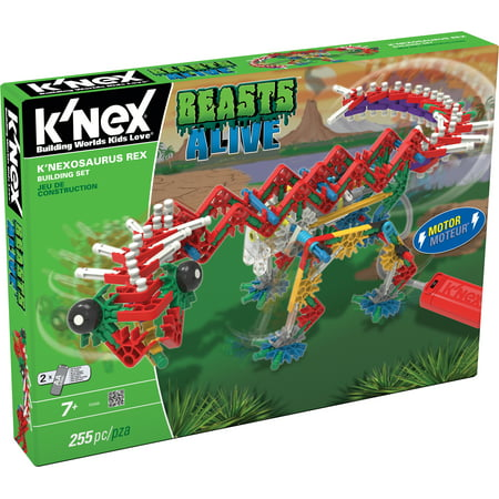 K'NEX Beasts Alive - K'NEXosaurus Rex Building Set - 255 Pieces - Ages 7 Engineering Educational Toy