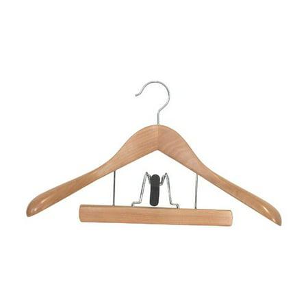 Proman Taurus Suit Hanger with Trouser Clamp - 12 Pieces