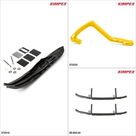 Kimpex - Arrow Ski Kit - Black, Ski-Doo GTX 600 2005 Black / Yellow  #KK00002002_176