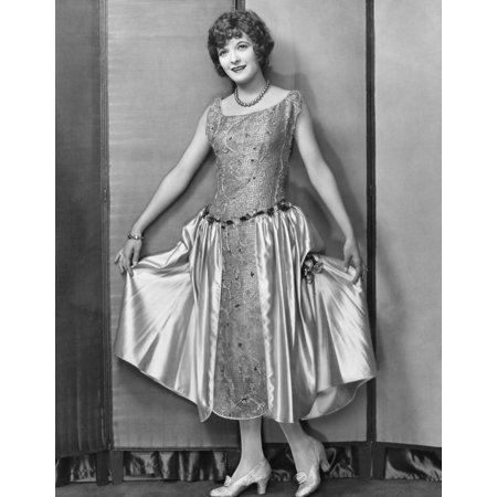 Marian Nixon In Silk And Satin Evening Gown Portrait