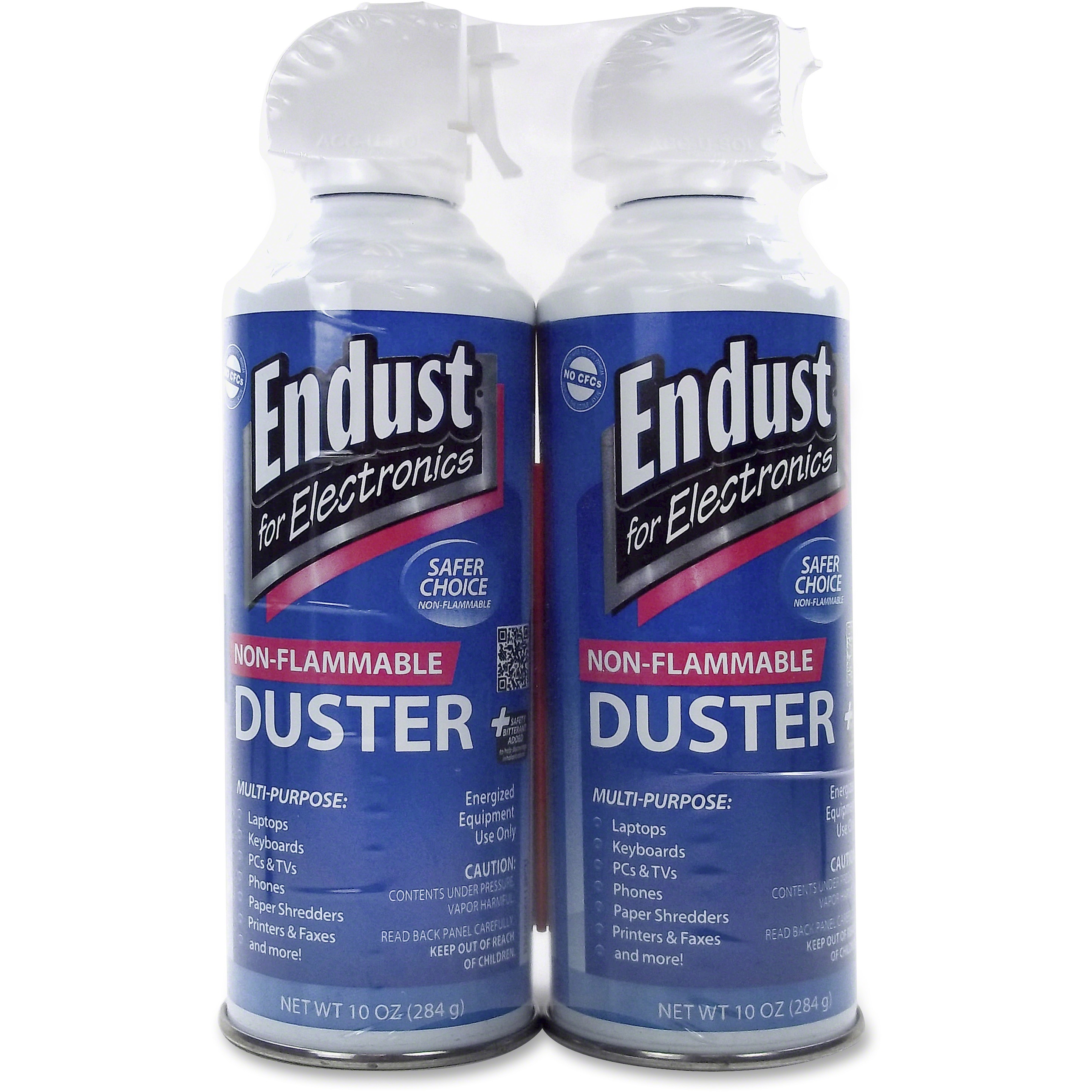 Endust 10 oz Air Duster with Bitterant, Blue, 2 / Pack (Quantity)