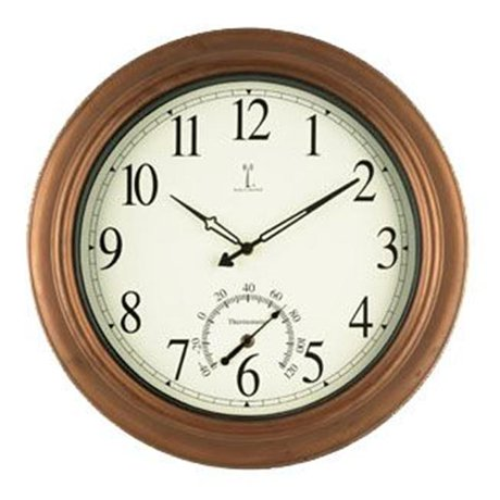 Chaney Clock 50314 Balmoral Antique Copper Atomix Atomic