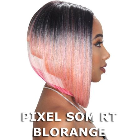 Sis Slay Blunt Cut Hair Lace Front Wig - MULA (PIXEL SOM RT SUNSET)
