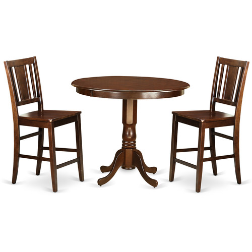 Trbu3 Mah W 3 Piece Counter Height Dining Table Set