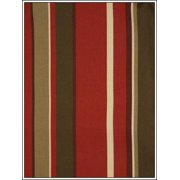 Antigua Ottoman in Royal Oak-Fabric:Green & Red Stripes
