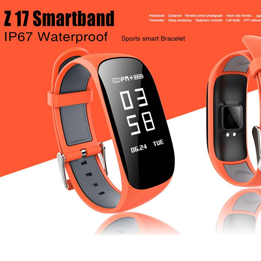 """Smart Watch 0.96"""" OLED Smart Bluetooth 4.0 Heart Rate Bracelet Large Curved Screen Call Barring Wristband IP67 Waterproof Sports Band"""