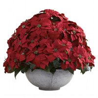 Giant Poinsettia Arrangement With Decorative Planter
