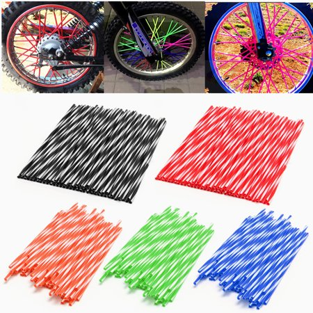 72Pcs Motorcycle Motocross Dirt Bike Spoke Skins Enduro Wheel Rim Spoke Skins Covers Protect Wraps Wheel Rim Guard (Vinyl Rim Guard)