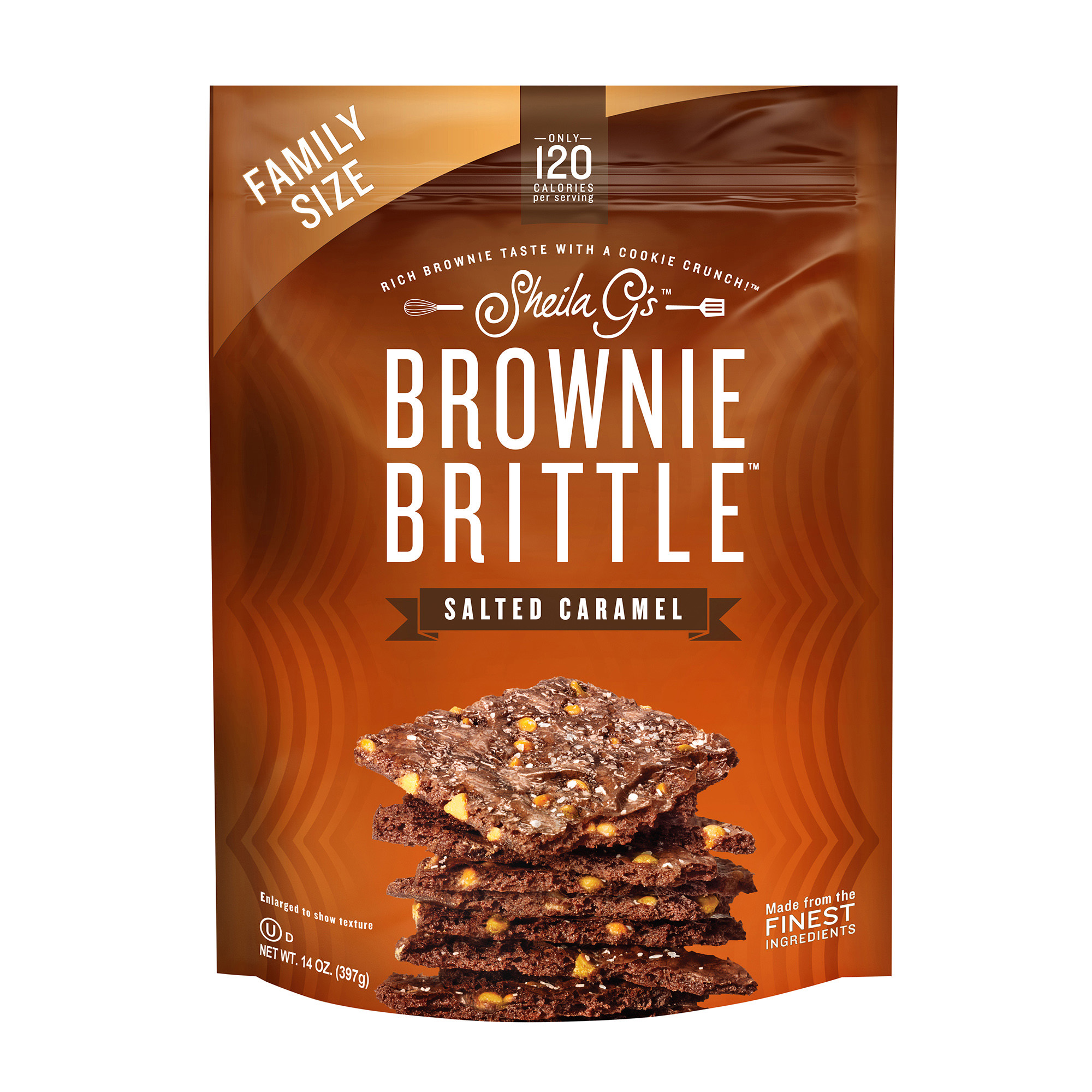 Sheila G's Brownie Brittle Salted Caramel Cookie Snack Thins, 14oz